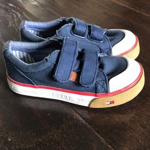 Tommy Hilfiger Navy Toddler Shoes, Sz 7
